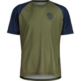Maloja StachelbeereM. Multi Short Sleeve Multisport Jersey Men, Oliva/azul